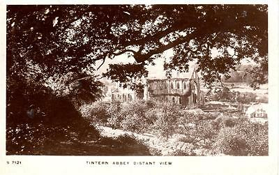 Wales - Tintern Abbey, Distant View (Kingsway)