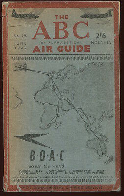 Abc Air Guide Timetable June 1946 Bsaa Flying Boats Mea Saa Boac Bea Paa Klm