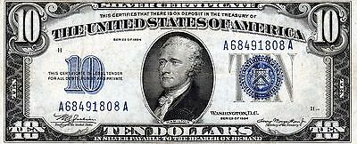 1934 $10.00 Silver Certificate(s) Circulated-Problem-Free