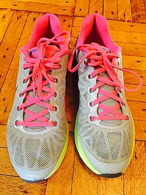 Girls NIKE Lunar Glide 6 Sneakers Gray Pink & Blue SIze 5.5 Youth