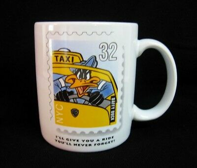 Looney Tunes Daffy Duck Mug New York Taxi Cab Driver Stamp Vintage 1996 Cup