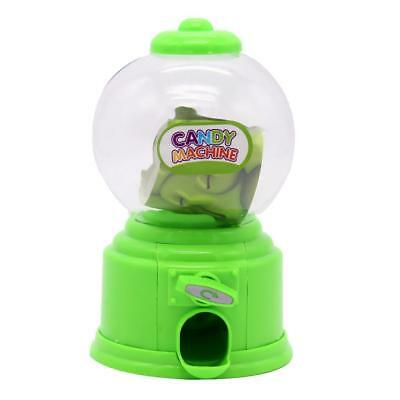 Green Plastic Candy machine Gumball Gum Ball Snacks Storage Boxes Gifts Toy