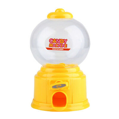Yellow Plastic Candy Machine Gumball Gum Ball Snacks Storage Boxes Gifts Toy