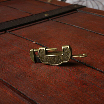 Retro Chinese Small Padlock Lock Key Cloud Shaped for Drawer Chest Collect