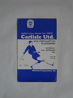 5 Football Programmes from 1960's featuring  Carlisle Utd.