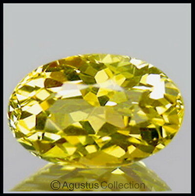 0.44 cts Yellow Grossular GARNET Oval Faceted VVS Clean Natural Gemstone Mali
