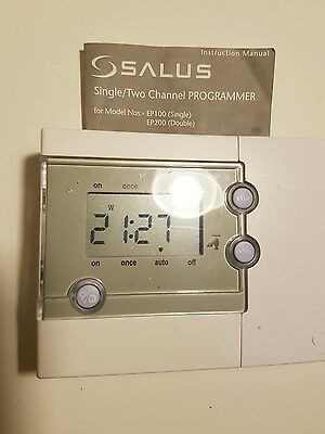 Salus EP200 2 Channel Heating and Hot Water Programmer