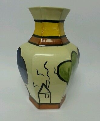Siltone pottery Staffordshire hand painted vase