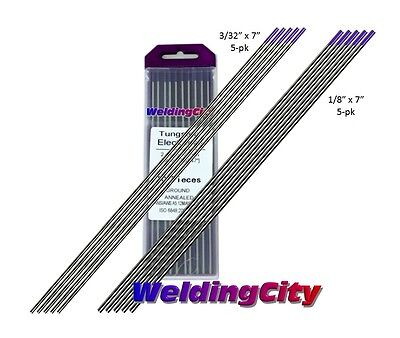10-pk TIG Welding Tungsten Tri-Element Non-Radioactive Purple 3/32-1/8 US Seller