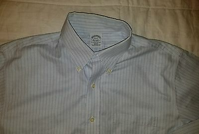 BROOKS BROTHERS slim fit [16 - 32] Non-Iron all supima cotton shirt oxford