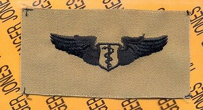 USAF Air Force Flight Surgeon Qualification wing badge desert patch