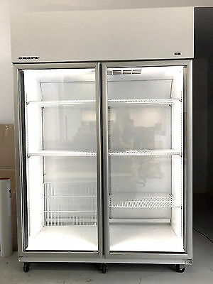 SKOPE TME1300-C Two Glass Door Commercial Upright Chiller / Fridge 1310 Litres