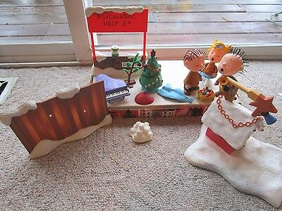 Peanuts A CHARLIE BROWN CHRISTMAS Play Figures Sally Linus +++Mixed Lot Parts