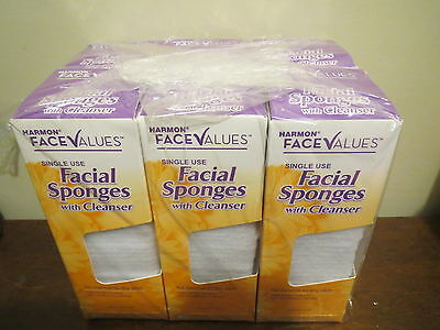 (6) x 40 Facial Sponges Singles with Cleanser Normal to dry skin (like Buf-Puf)