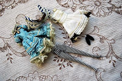 new original pullip classical alice blue ribbon bow doll complete outfit clothes