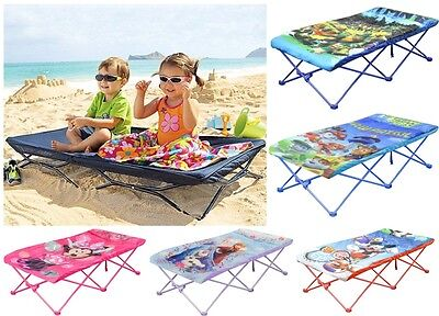 Kids Portable Travel Camping Bed/ On-The-Go Folding Cot - Multiple Characters
