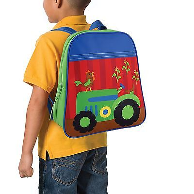 Stephen Joseph Tractor School Backpack for Boys - Cute Book Bag for Kids