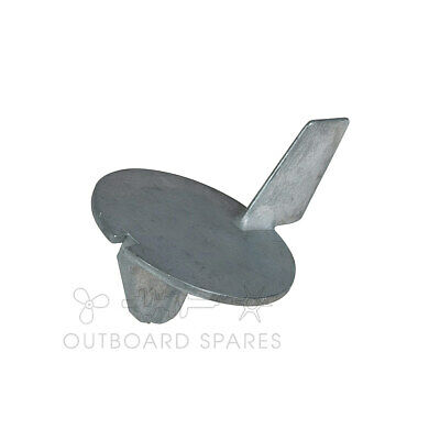 A New Mercury Mariner Zinc Trim Tab Anode for 20, 25hp Outboard (Part # 98432Q6)