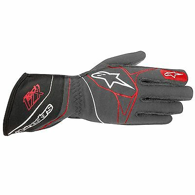 Alpinestars Tech 1-ZX Race Gloves - Anthracite / Black / Red - Size Small