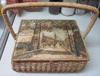 Collectible Dritz Sewing Basket, Neat Pattern, Vintage Whicker Basket!