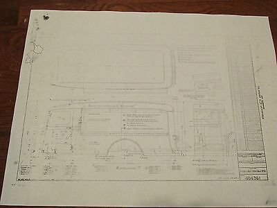 """1934? Chevrolet Panel Express Body Assy Drawing:18""""X24"""" #464361"""