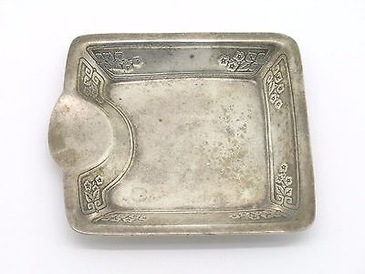 Authentic Tiffany & Co. Makers Sterling Silver Ash Tray Rare Flower Design