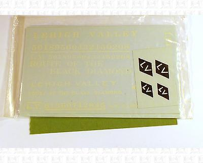 Walthers O Decals Lehigh Valley Boxcar Black and White 60-15