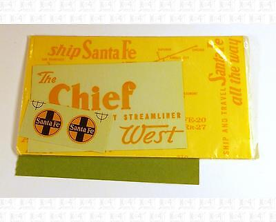 Walthers O Decals Santa Fe Boxcar Yellow 22-25 Chief West