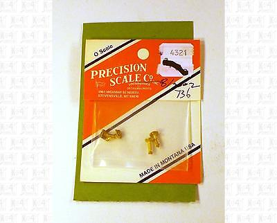 Precision Scale O Brass Parts: Style I Poling Pockets 4321