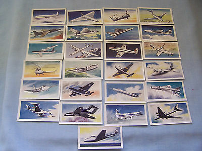 Cigarette cards Mills 1958 'aircraft of the world' 25/25