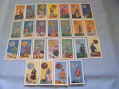 Cigarette cards Mills 1958 ' Br.coins & costumes' 25/25
