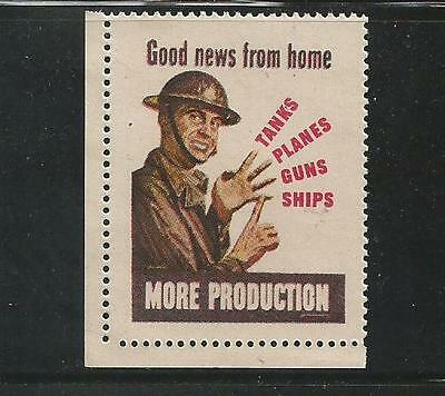 """WWII """"Good News From Home""""  propaganda poster label"""