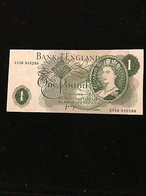 Bank Of England $1 Banknote 1970-77 Pic374g