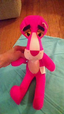 Vintage Pink Panther Plush 1980 Mighty Star Nice