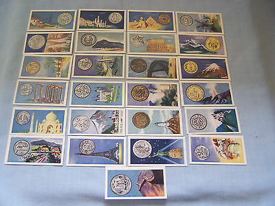 Cigarette cards Mills 1961 'Coins of the world'  25/25