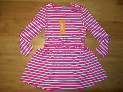 NWT Gymboree Girls Size S 5 - 6 LS Pink Striped Knit Pocket Dress NEW