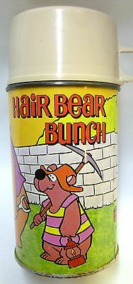 Hair Bear Bunch Thermos King Seeley Bottle #2857 Hanna-Barbera Nice Original