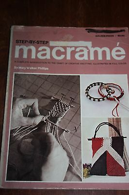 VINTAGE MACRAME by Mary Walker Phillips PATTERN-INSTRUCTION  BOOK-