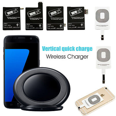 Qi Wireless Charger Charging Pad +Receiver Kit for Samsung Galaxy S5 Note iPhone