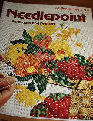 VINTAGE Needlepoint techniques and projects a sunset book