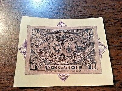 1897 Guatamala Cut Square