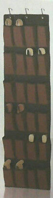 """NEW Home Essentials Over the Door 20 Pockets Shoes Organizer 17.5""""x46"""" BROWN"""