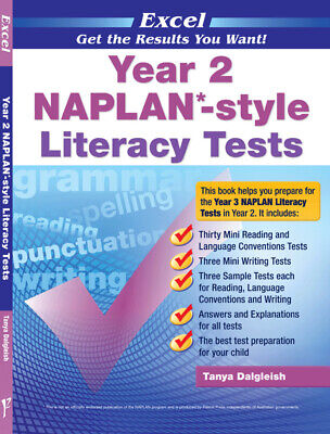 Excel NAPLAN-style Literacy Tests Year 2 NEW Pascal Press 9781741254518