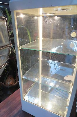 lockable glass display cabinet with light