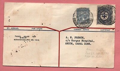 1929 Colombia Scadta Air Mail First Flight Buenaventura To Canal Zone Aamc 40