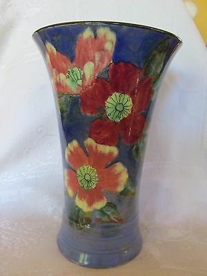Tall Royal Doulton Wild Roses Wild Rose or Anemone Vase