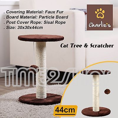 Cat Scratching Post Tree Scratcher Pole Furniture Gym Pet Toy 44cm New