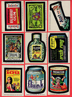 1975 Topps WACKY PACKAGES 14th Series Tan Back Lot sticker card tb vintage