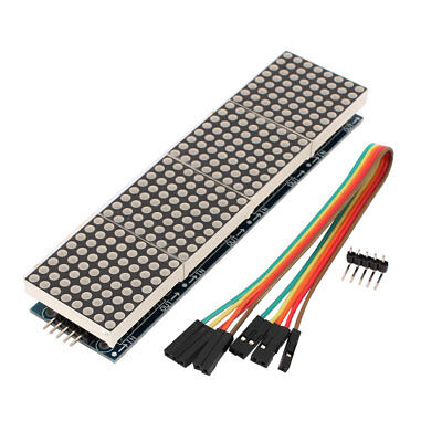 Red 8 x 32 Dot Matrix Red LED Display Module Board w Cable