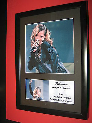 Rihanna  A4 Photo Mounted  ( Not Signed ) Ticket Cd